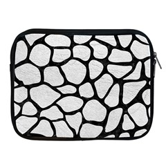 Skin1 Black Marble & White Leather (r) Apple Ipad 2/3/4 Zipper Cases by trendistuff