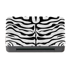 Skin2 Black Marble & White Leather Memory Card Reader With Cf by trendistuff