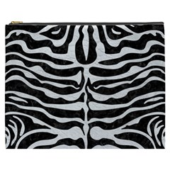 Skin2 Black Marble & White Leather (r) Cosmetic Bag (xxxl)  by trendistuff