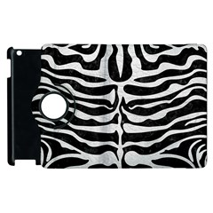 Skin2 Black Marble & White Leather (r) Apple Ipad 3/4 Flip 360 Case by trendistuff
