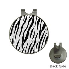 Skin3 Black Marble & White Leather Hat Clips With Golf Markers by trendistuff