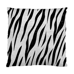Skin3 Black Marble & White Leather Standard Cushion Case (one Side) by trendistuff