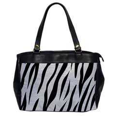 Skin3 Black Marble & White Leather Office Handbags by trendistuff
