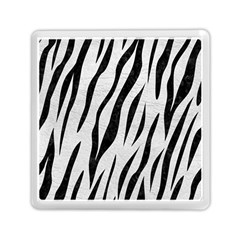 Skin3 Black Marble & White Leather Memory Card Reader (square)  by trendistuff