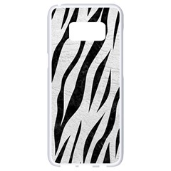 Skin3 Black Marble & White Leather Samsung Galaxy S8 White Seamless Case by trendistuff
