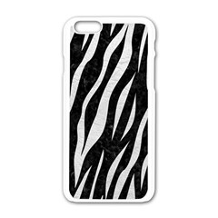 Skin3 Black Marble & White Leather (r) Apple Iphone 6/6s White Enamel Case by trendistuff