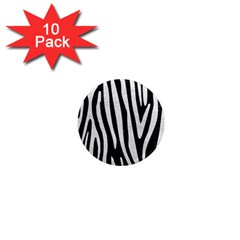 Skin4 Black Marble & White Leather 1  Mini Magnet (10 Pack)  by trendistuff