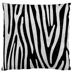 Skin4 Black Marble & White Leather Large Cushion Case (two Sides) by trendistuff