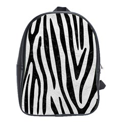 Skin4 Black Marble & White Leather (r) School Bag (large) by trendistuff