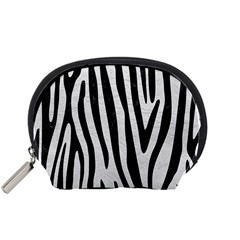 Skin4 Black Marble & White Leather (r) Accessory Pouches (small)  by trendistuff