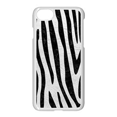 Skin4 Black Marble & White Leather (r) Apple Iphone 8 Seamless Case (white) by trendistuff