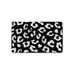 Skin5 Black Marble & White Leather Magnet (name Card) by trendistuff