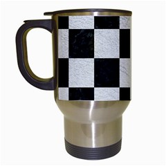 Square1 Black Marble & White Leather Travel Mugs (white) by trendistuff
