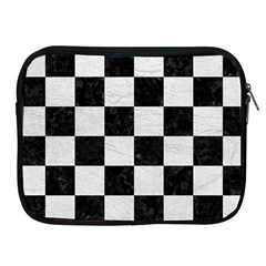 Square1 Black Marble & White Leather Apple Ipad 2/3/4 Zipper Cases by trendistuff