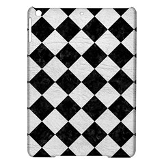 Square2 Black Marble & White Leather Ipad Air Hardshell Cases by trendistuff