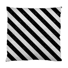 Stripes3 Black Marble & White Leather Standard Cushion Case (one Side) by trendistuff