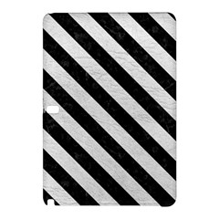 Stripes3 Black Marble & White Leather Samsung Galaxy Tab Pro 12 2 Hardshell Case by trendistuff