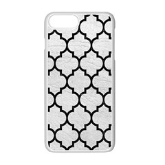 Tile1 Black Marble & White Leather Apple Iphone 7 Plus Seamless Case (white) by trendistuff