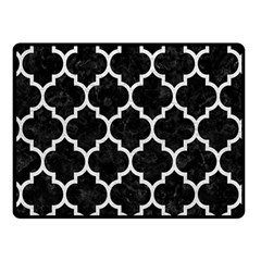 Tile1 Black Marble & White Leather (r) Fleece Blanket (small) by trendistuff