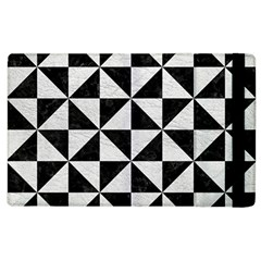 Triangle1 Black Marble & White Leather Apple Ipad 2 Flip Case by trendistuff