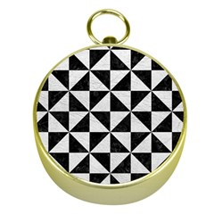 Triangle1 Black Marble & White Leather Gold Compasses by trendistuff