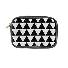 Triangle2 Black Marble & White Leather Coin Purse by trendistuff