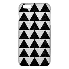Triangle2 Black Marble & White Leather Iphone 6 Plus/6s Plus Tpu Case by trendistuff