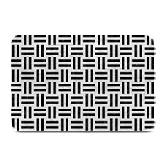 Woven1 Black Marble & White Leather Plate Mats