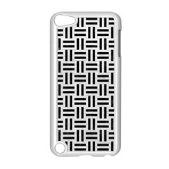 Woven1 Black Marble & White Leather Apple Ipod Touch 5 Case (white) by trendistuff