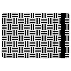 Woven1 Black Marble & White Leather Ipad Air 2 Flip by trendistuff