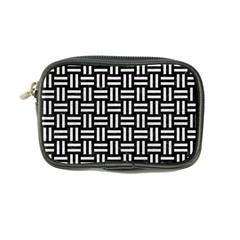 Woven1 Black Marble & White Leather (r) Coin Purse by trendistuff