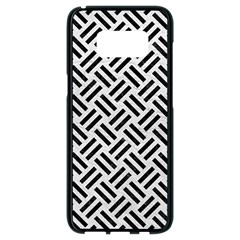 Woven2 Black Marble & White Leather Samsung Galaxy S8 Black Seamless Case