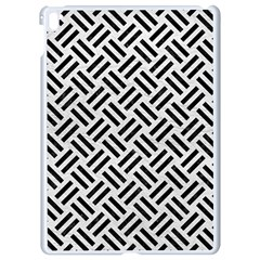 Woven2 Black Marble & White Leather Apple Ipad Pro 9 7   White Seamless Case by trendistuff