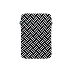 Woven2 Black Marble & White Leather (r) Apple Ipad Mini Protective Soft Cases by trendistuff