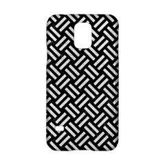 Woven2 Black Marble & White Leather (r) Samsung Galaxy S5 Hardshell Case  by trendistuff