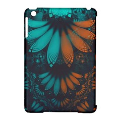 Beautiful Teal And Orange Paisley Fractal Feathers Apple Ipad Mini Hardshell Case (compatible With Smart Cover) by jayaprime