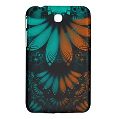 Beautiful Teal And Orange Paisley Fractal Feathers Samsung Galaxy Tab 3 (7 ) P3200 Hardshell Case  by jayaprime