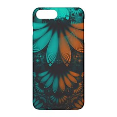 Beautiful Teal And Orange Paisley Fractal Feathers Apple Iphone 8 Plus Hardshell Case by jayaprime