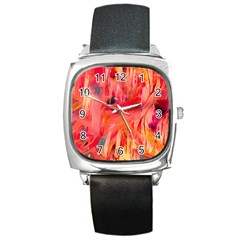 Abstract Acryl Art Square Metal Watch by tarastyle