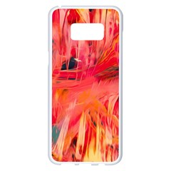 Abstract Acryl Art Samsung Galaxy S8 Plus White Seamless Case by tarastyle