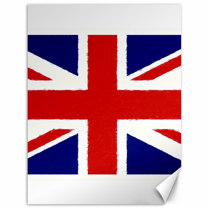 Union Jack Pencil Art Canvas 18  x 24