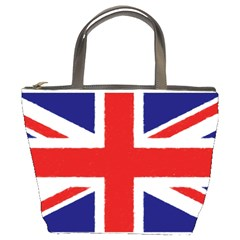 Union Jack Pencil Art Bucket Bags by picsaspassion