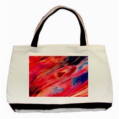 Abstract Acryl Art Basic Tote Bag (two Sides) by tarastyle
