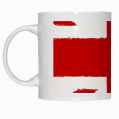 Union Jack Watercolor Drawing Art White Mugs by picsaspassion