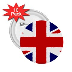 Union Jack Watercolor Drawing Art 2 25  Buttons (10 Pack)  by picsaspassion