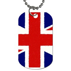 Union Jack Watercolor Drawing Art Dog Tag (two Sides) by picsaspassion