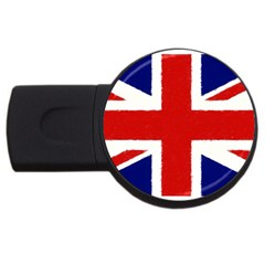 Union Jack Watercolor Drawing Art Usb Flash Drive Round (2 Gb) by picsaspassion