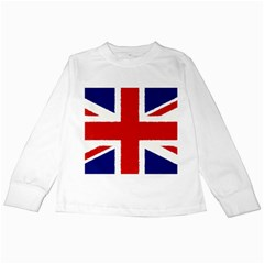 Union Jack Watercolor Drawing Art Kids Long Sleeve T Shirts by picsaspassion