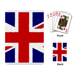 Union Jack Watercolor Drawing Art Playing Card by picsaspassion