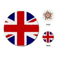 Union Jack Watercolor Drawing Art Playing Cards (round)  by picsaspassion